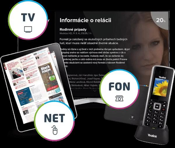 NUO - internet, televízia a telefón